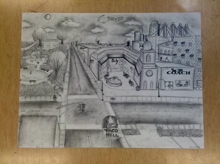 Freshman Andrea Monge Art I